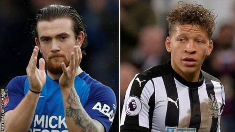 Jack Marriott (left) and Dwight Gayle