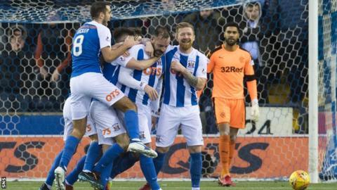 Kilmarnock striker Kris Boyd celebrates