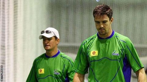 Daryn Smit (left) and Kevin Pietersen