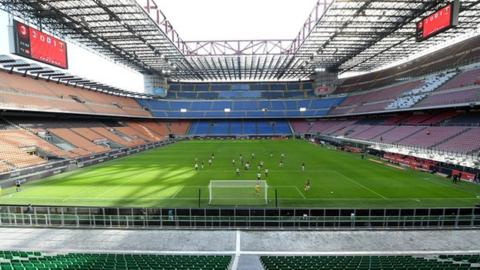 Milan's San Siro. Photo credit: Serie A