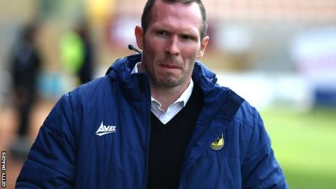 Oxford United manager Michael Appleton