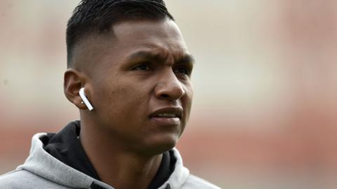 Rangers' Alfredo Morelos at Hope Stadium