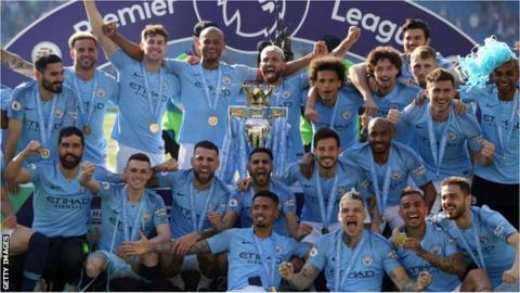 donald trump news Manchester City won the Premier League title in 2018-19
