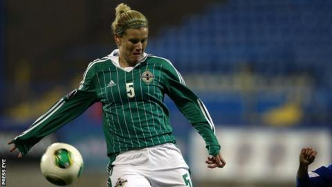 Captain Julie Nelson notched Northern Ireland's opening goal in the third minute