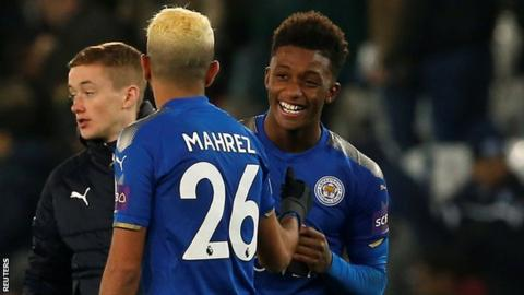 Demarai Gray hurt himself as he crashed into the post to score Leicester winner