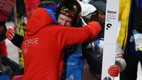Robert Johansson of Norway celebrates