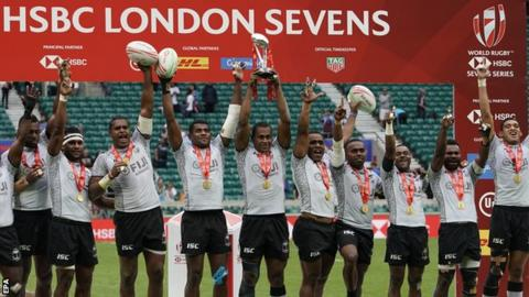 Fiji thump Australia to win London 7s