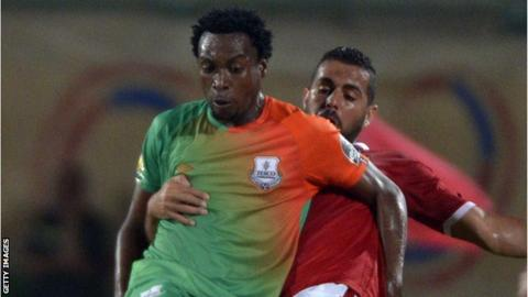 Zesco United's Jackson Mwanza