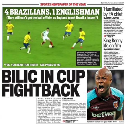 Thursday's back pages - BBC Sport