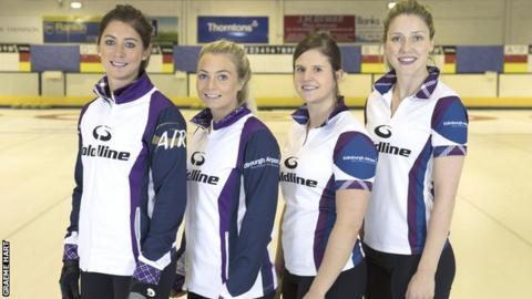 Eve Muirhead, Anna Sloan, Vicki Adams and Lauren Gray