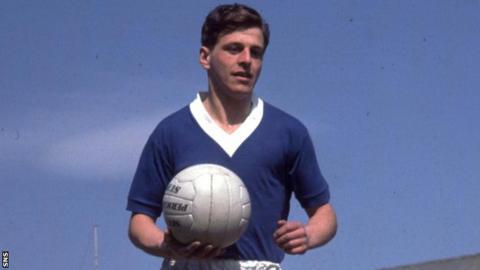 Former Rangers and Scotland defender Eric Caldow