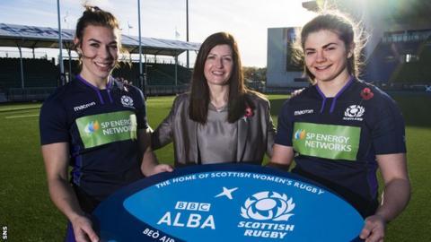 Louise McMillan, Iseaball Mactaggart (Director of strategy and partnership at MG ALBA and Lisa Thomson.