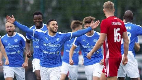 Aberdeen trailed after just 70 seconds in Lapland