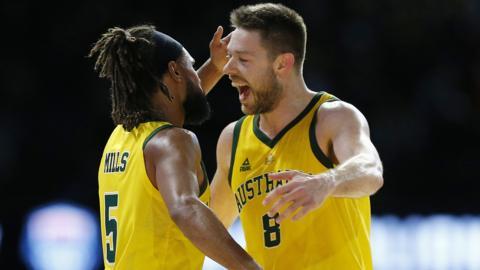 Australia and United States basketball