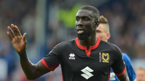 Cisse scored three goals in 68 appearances for MK Dons