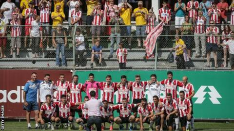 Exeter City fans in Brazil