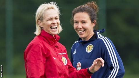 Scotland head coach Shelley Kerr and captain Rachel Corsie