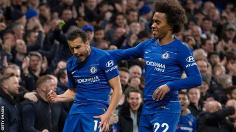 Chelsea announce Willian and Pedro short-term extensions