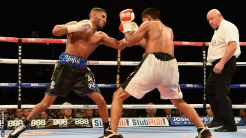 Britain's Gamal Yafai throws a punch