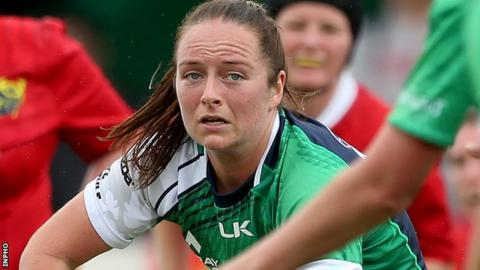 Connacht centre Nicole Fowley makes her Ireland debut against England on Sunday