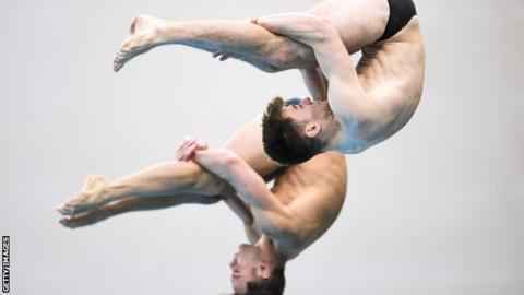 Tom Daley and Matthew Lee
