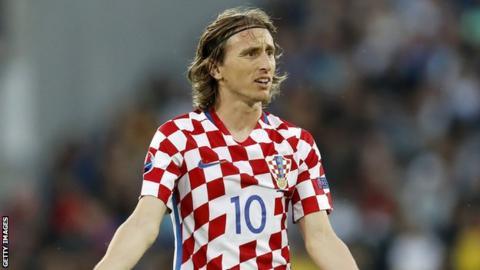 Real Madrid midfielder Luka Modric