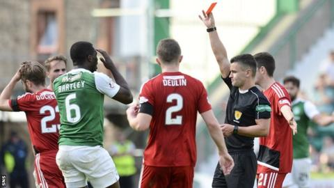 Marvin Bartley red carded