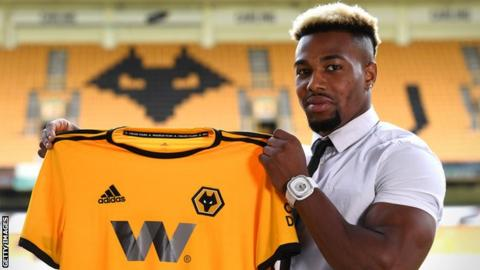 Wolves winger Adam Traore