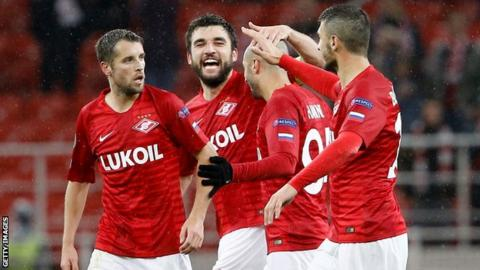 Spartak Moscow celebrate