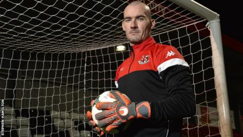 Gerard Doherty after signing for Crusaders on Thursday evening