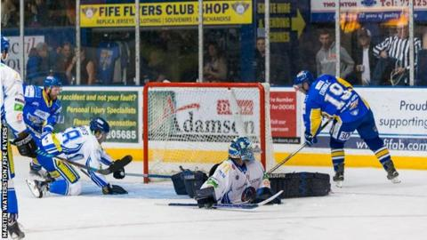 Ryan Dingle scored twice on Saturday and three overall in a mixed weekend for Fife Flyers
