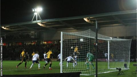 Newport v Spurs at Rodney Parade