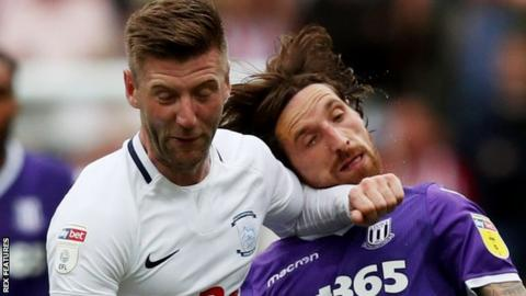 Paul Gallagher playing for Preston