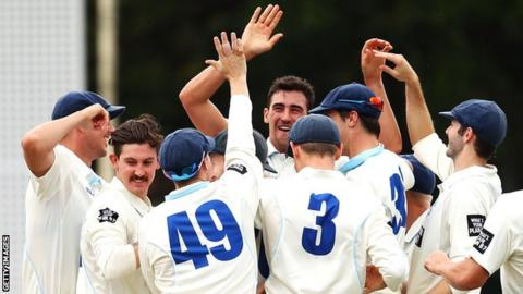 Ashes 2017-18: Mitchell Starc takes second hat-trick for New