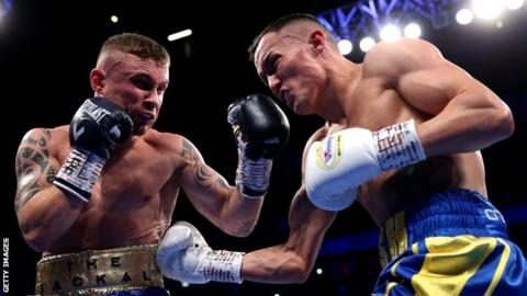 Josh Warrington during his victory over Carl Frampton in December