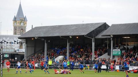 The Gnoll, home of Neath RFC