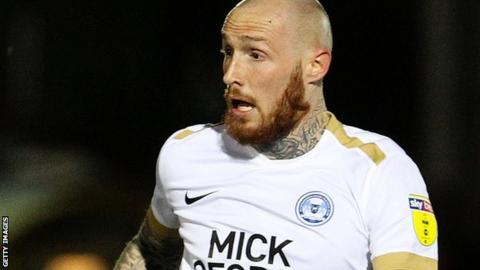 Marcus Maddison in action for Peterborough
