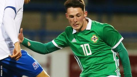 Jordan Thompson in action for Northern Ireland