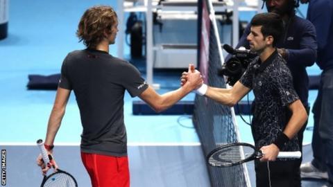 Djokovic overcomes illness to beat Zverev at ATP Finals