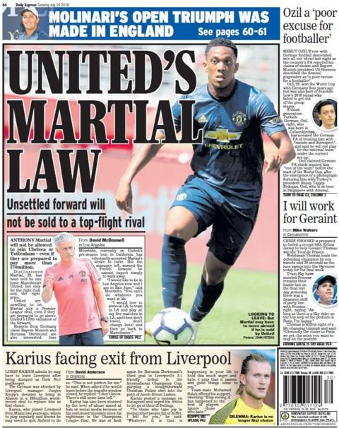 Express back page