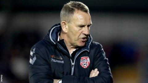 Derry City manager Kenny Shiels