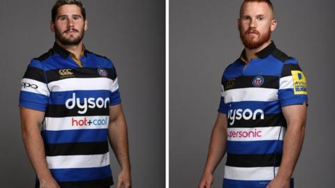 Nathan Charles (left) has been with Bath since March 2017, while Rory Jennings arrived in 2014