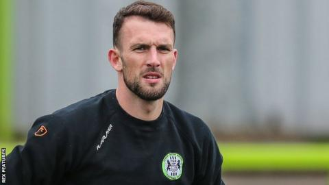 Forest Green Rovers striker Christian Doidge