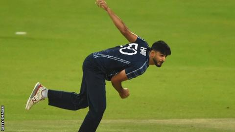 Safyaan Sharif in action for Scotland