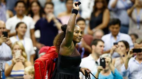 Serena Williams through with first-round victory over Magda Linette