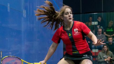 Tesni Evans is a five-time Wales squash champion