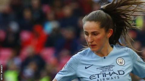 Abbie McManus helped Manchester City to the Women's FA Cup prior to her departure from the club
