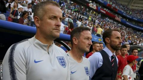 Martyn Margetson, Steve Holland and Gareth Southgate