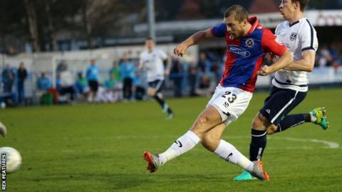 Michael Cheek scores against Guiseley