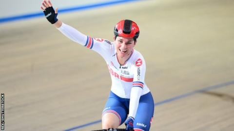 Sarah Storey celebrates
